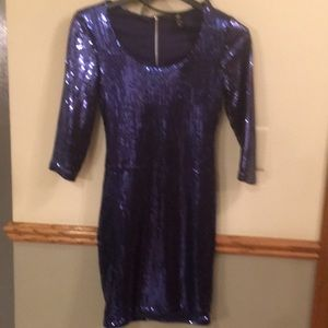 H&M navy sequined dress